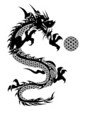 2012 Flying Chinese Dragon with Ball Clipart