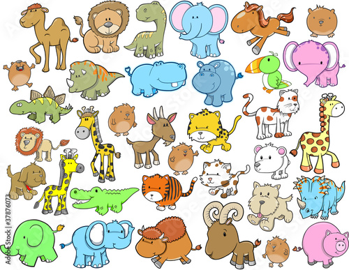 Animal Design Elements Vector Set