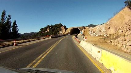 carretera paisaje obras