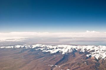 Aerial photography, the Tianshan Mountains in Xinjiang, China