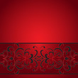 Decorative stripe on red