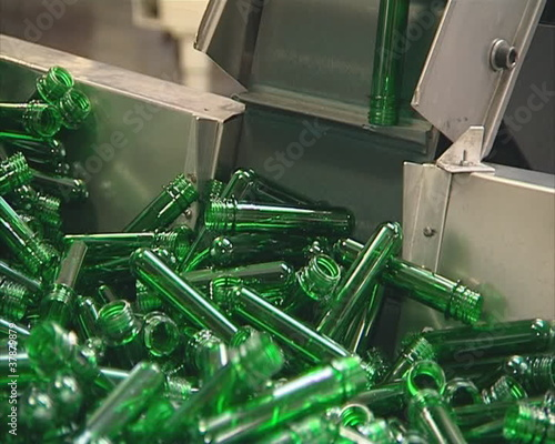 Plastic material for pet bottle production.