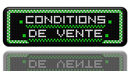 PANNEAU A LEDS CONDITIONS DE VENTE AVEC EFFET MIROIR