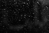 rain drop on abstract black  background