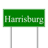 Harrisburg green road sign