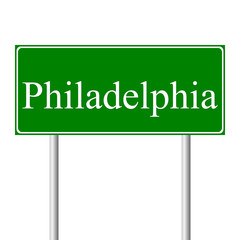 Philadelphia green road sign