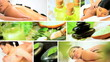 Montage of Multi Ethnic Females Enjoying Spa Treatment