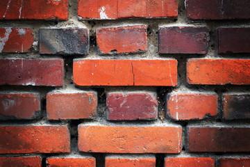 Old destroyed brickwork