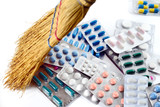médicaments,pilules,blister,crise,sécurité sociale poster