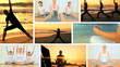 Montage of Yoga Fitness Lifestyle