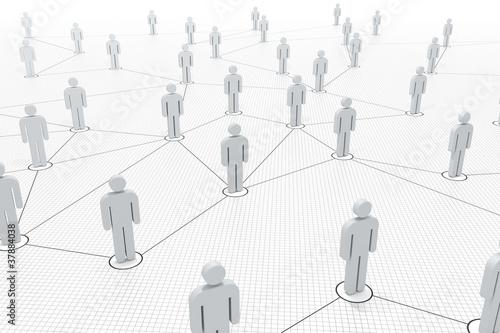 verbundene Figuren im Netzwerk - 37884038