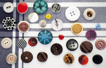 Buttons On Textile