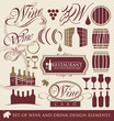 Wine and drink design elements