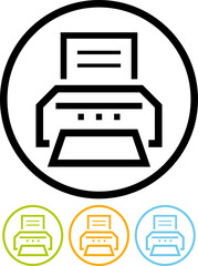 Vector simple printer icon