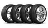 Fototapety Car wheels set