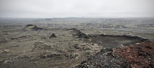 Paysage volcanique islandais