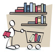 funny guy buying books online