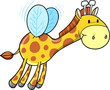 Cute Safari Bumble Bee Giraffe Vector Illustration
