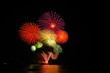 Colorful Fireworks in Pattaya