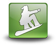 "Green 3D Effect Icon ""Snowboarding"""