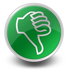 "Green Glossy Icon ""Thumbs Down"""