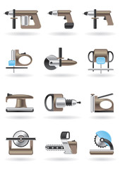 Building and furniture power tools - vector illustration