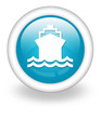 "Light Blue Icon ""Ship / Water Transportation"""