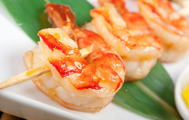 Japanese skewered  royal prawn