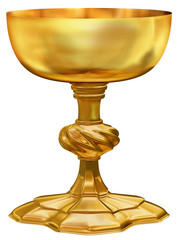 Ornate golden chalice