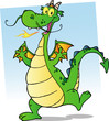 Happy Smiling Dragon Cartoon Character