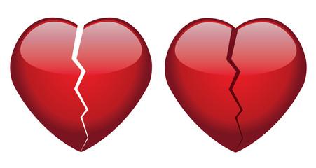 vector broken hearts