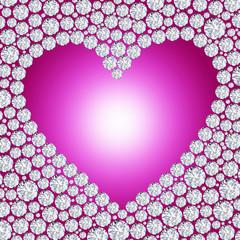 diamond heart frame