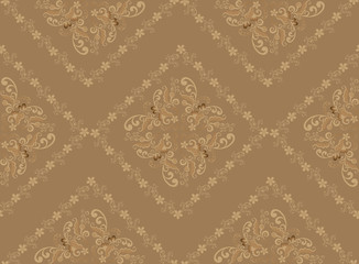 beige pattern in the rococo style