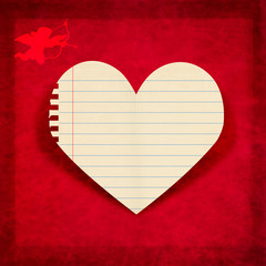 greeting card ,Valentine day ,blank paper