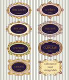 Selectio of vintage labels