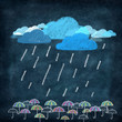 weather icon ,rainy day with umbrella