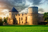 Fototapety Old castle in Cesis, Latvia