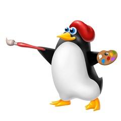 pinguino pittore
