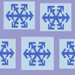 Seamless repeating Patchwork knit pattern swatch