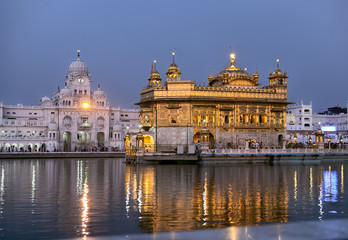 Amritsar Golden temple at dawn