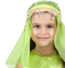 little girl dressed arabian