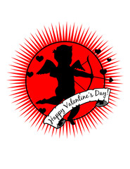 Happy Valentine's Day Cupid! Eps / clip art / jpeg