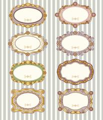 Set of vintage vector labels