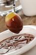 Fonduta di cioccolato e uva
