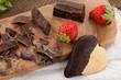 Cioccolato, biscotto e fragole