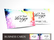 abstract dotted business card