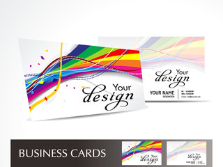 abstract colorful wave business card