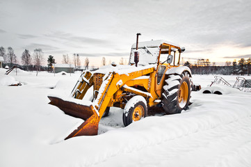 winter tractor