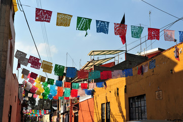 Colourful Mexican Houses
