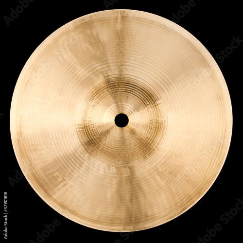Cymbal Backside Isolated on Black - 37901819